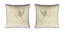 Sue Gifford's cushions in linen, silk and velvet