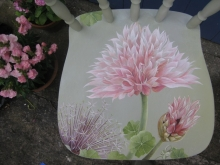 Upcycled Farmhouse Chair - Alliums